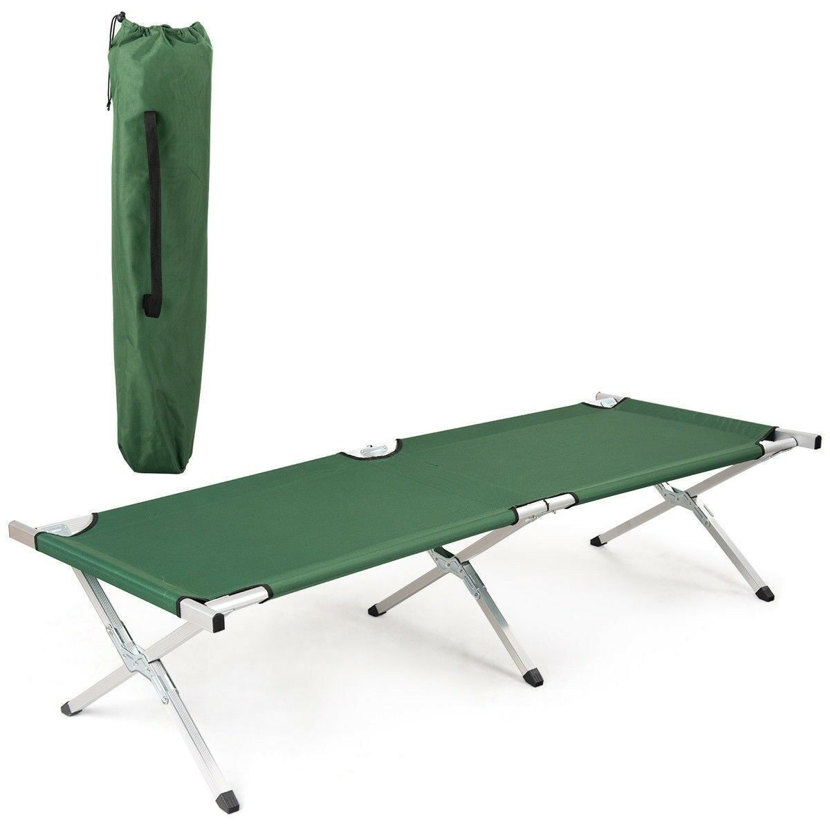 Outdoor Foldable Camping  Hiking Sleep Bed Portable Military Cot Carrying Bag US  free shipping worldwide