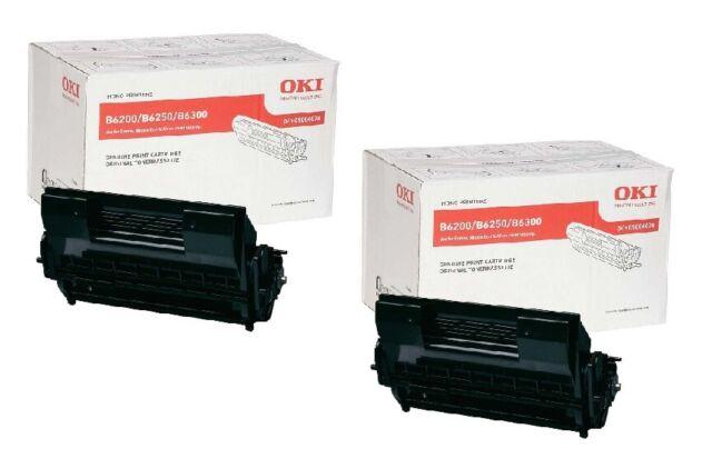2x Original Toner Cartridge Oki Page B6200 B6300 B6300n/09004078 11K Cartridge