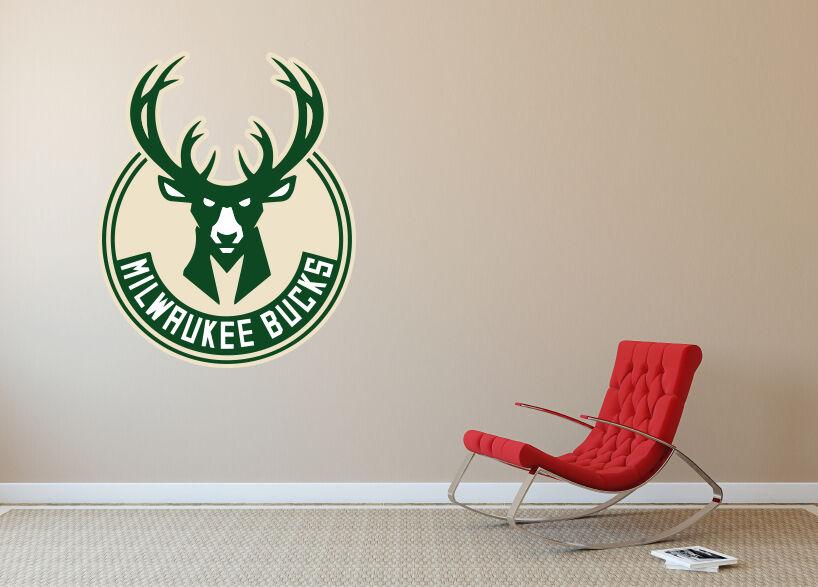 Milwaukee Bucks Wall Logo Vinyl Decal Sticker Wall Decal Home Room Decor SA179