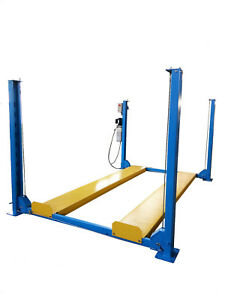 4 POST LIFT / FOUR VEHICLE CAR RAMP / HOIST PARKING STORAGE WITH MOBILE KIT 3.7T