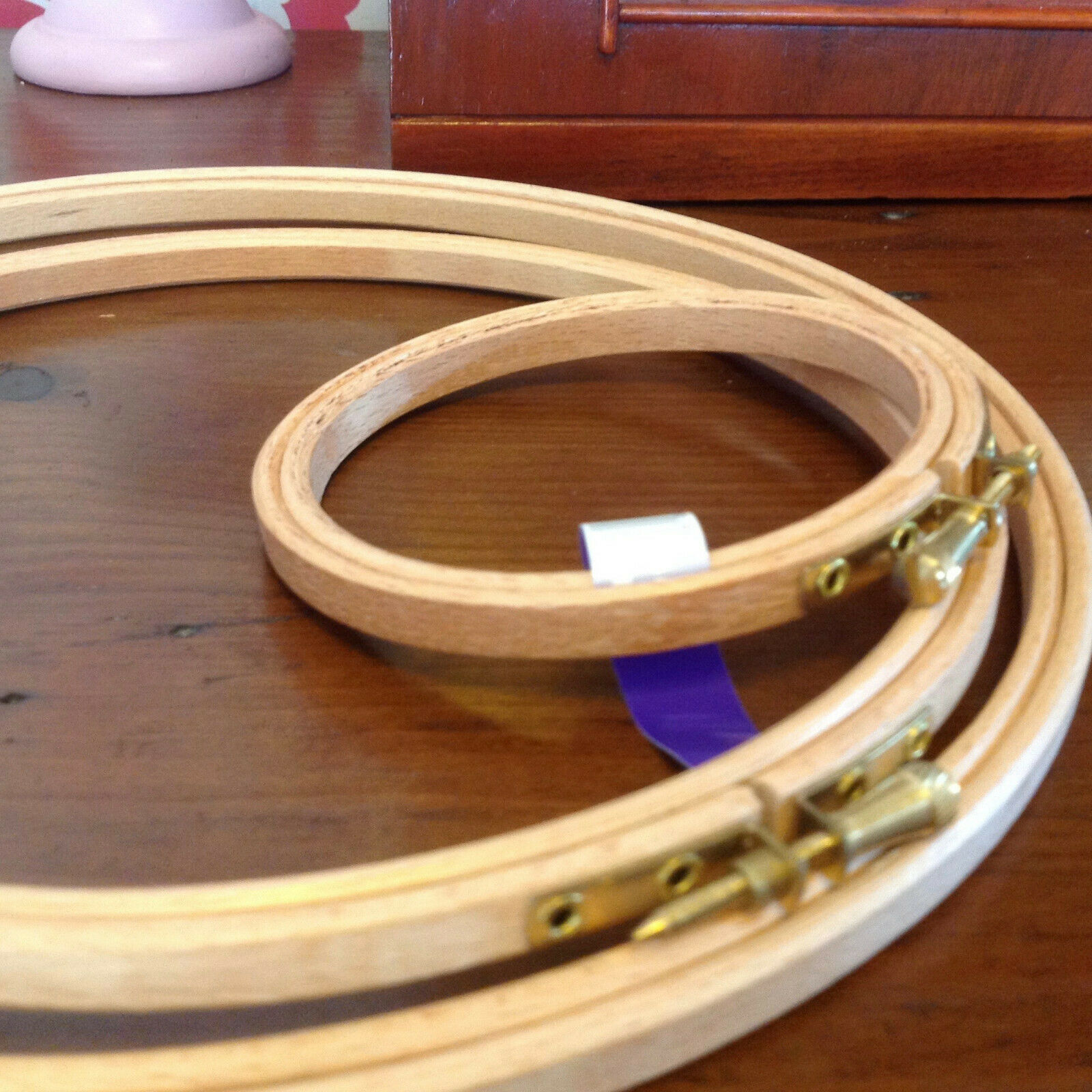 Wood Quilting Hoops Round 23 Inches New