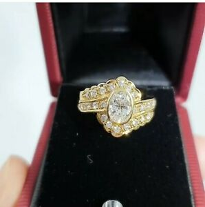 Natural-Diamond-Oval-Ring