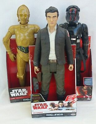 "Star Wars Big-Figs 18/"" Action Figures Poe Dameron Kylo Ren Porg"