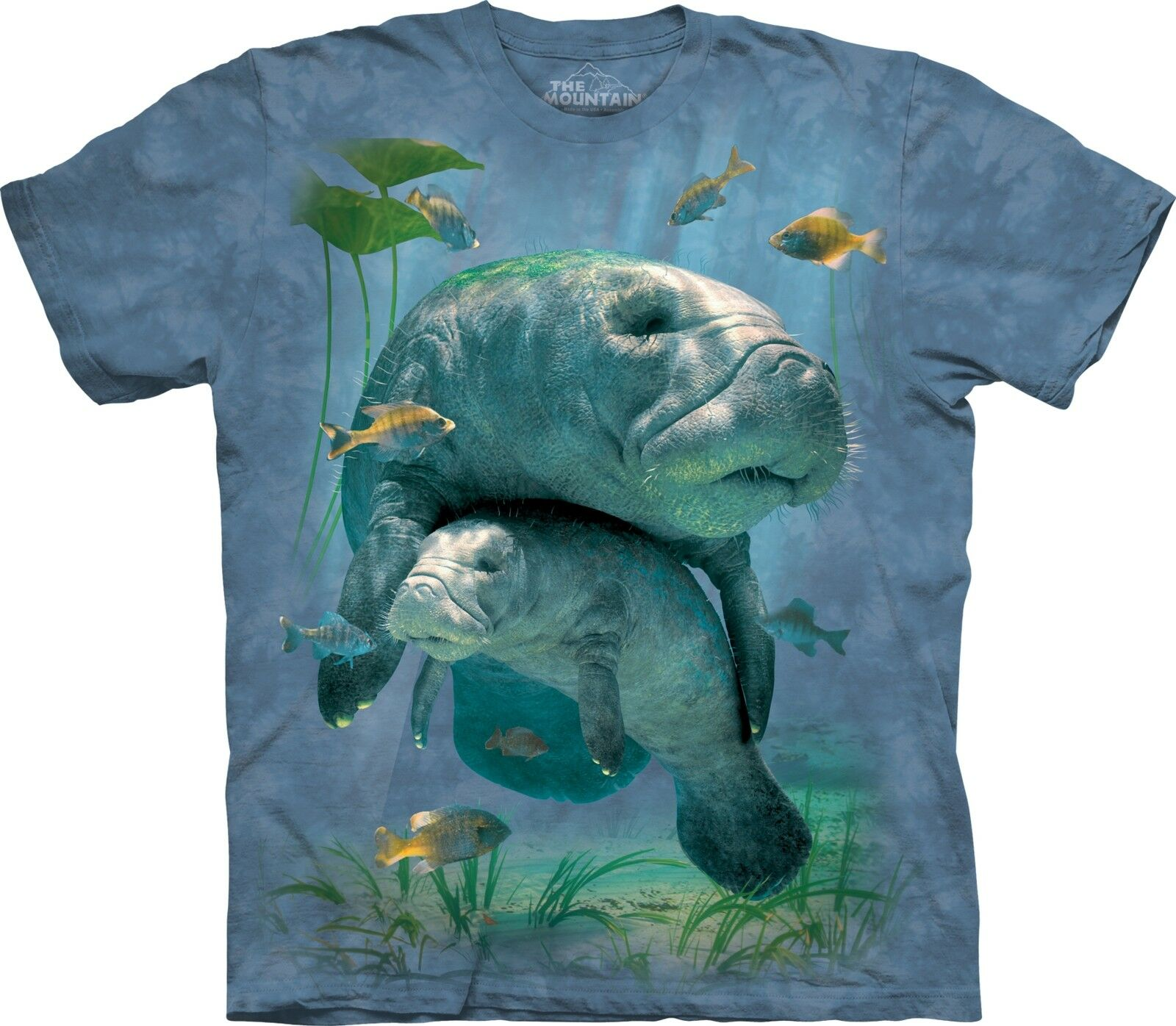 The Mountain Unisex Adult Manatees Collage Aquatic T Shirt