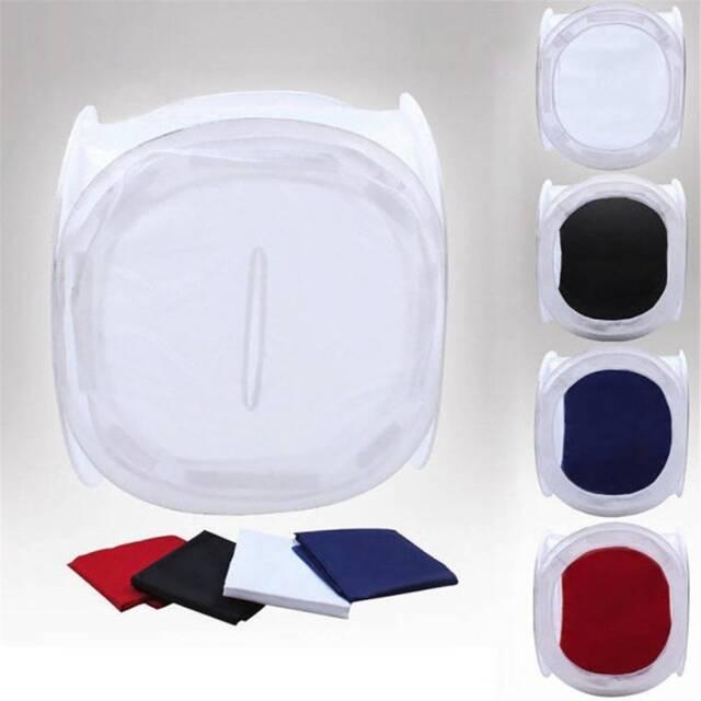 Photo Studio Foldable Shooting Tent Light Softbox Cube Box Kit + 4 Backdrops