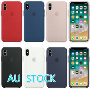 huge discount 9ad12 4a39e Details about Silicone Case Cover For Apple iPhone X 10 Genuine Original  Ultra Thin