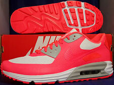Nike Air Max Lunar90 Hyperfuse Premium iD Solar Red White SZ 10 ( 653604-993 )