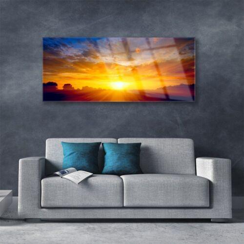 Acrylglasbilder Wandbilder Druck 125x50 Sonne Landschaft