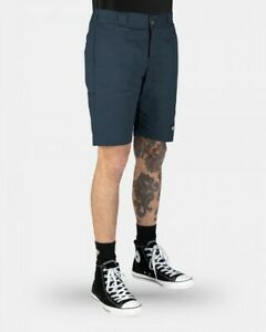 DICKIES-Shorts-Skinny-Straight-Dark-Navy-Work-Walk-Bmx-Skate-Short-WR801AU-DN