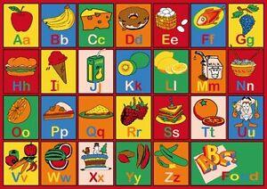 Image Is Loading Abc Fruits Kids Area Rug 3 039 X