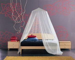 Zanzariera Da Letto : Zanzariera a baldacchino per letto matrimoniale tenda bianca per