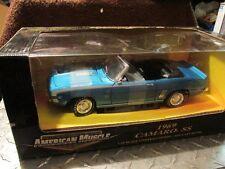 1/18 Ertl 1969 Chevy Camaro SS 396 METALIC BLUE SS CONVERTIBLE  Very rare