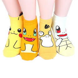 Pokemon Women's Ankle Socks 4 pairs = 1 pack Made in Korea