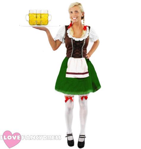 Disfraz de chica Bávara Cerveza Oktoberfest Vestido Elegante para Mujer Mucama Alemán Moza