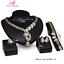 Prom-Wedding-Bridal-Party-Rhinestone-Ring-Bracelet-Necklace-Earring-Jewelry-Set thumbnail 17
