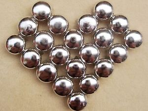 100-Silver-Tone-Metal-Dome-Claw-Punk-Studs-Rivets-10mm-Belt-Leather-Craft-DIY