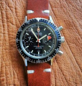 Nivada-Chronograph-Sea-Diver-Aviator-Chronomaster-Valjoux-23-Men-039-s-Swiss