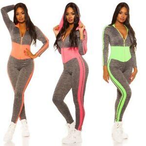 Tuta da donna completo sportivo fitness gym overall jumpsuits