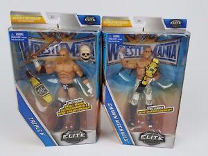 WWE-Triple-H-Shawn-Michaels-Lot-Wrestlemania-Elite-Action-figure-Mattel