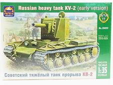 LOT 13671   ARK Models 35022 Russian Heavy Tank KV-2 early 1:35 Bausatz NEU OVP