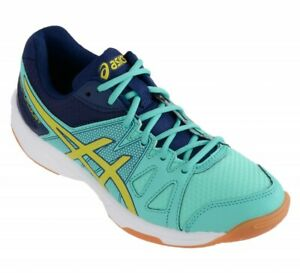 Details about Asics Gel Upcourt B450N 7007 Lace Up Aqua Mint Lime Trainers