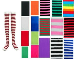 Women-Girls-Stripe-Knee-High-Over-Knee-High-Socks-Party-Dress-Stockings-Costume