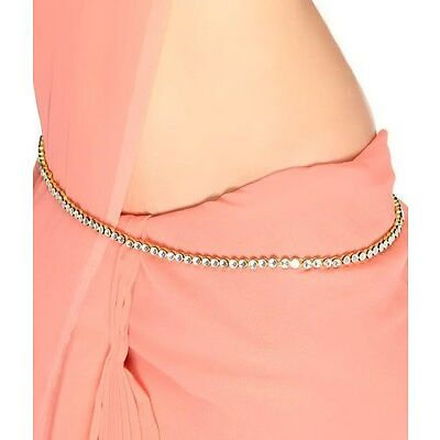 Saree Challa Kamarbandh Kamarpatta Belly Hips Chain Waist Belt white beads