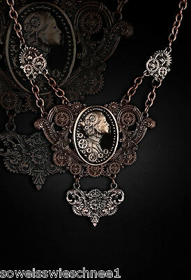 Restyle Steampunk Lady Choker Halskette Kupfer Vintage Gothic Collier Necklace