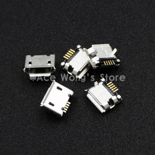 10pcs Micro USB Type B Female 5Pin DIP Socket Jack Connector Port Charging