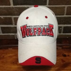 best service 134b3 c5a6d Image is loading NORTH-CAROLINA-STATE-WOLFPACK-Baseball-Cap-Hat-TOP-
