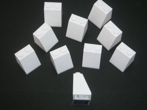 New White slopes 2x2x2 REF 3678 Lego 10 Briques inclinées blanches neuves