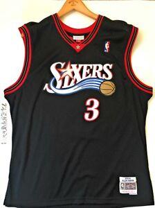 9de16a144 Allen Iverson Sixers 76ers Mitchell Ness 2000-01 HWC Swingman Jersey ...
