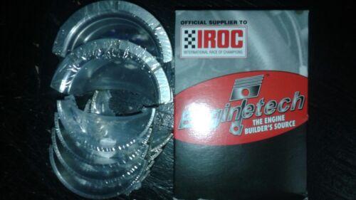 Enginetech Chevy SBC 305 327 350 Main Bearing Set Iroc Standard