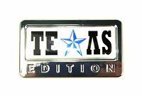 1x Chrome Texas Edition 3d Accessory Emblem For Car Suv Rv Truck - Universal