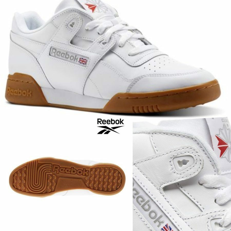 Reebok Classic Workout Plus Runner Leather Shoes White CN2126 SZ 5-12.5