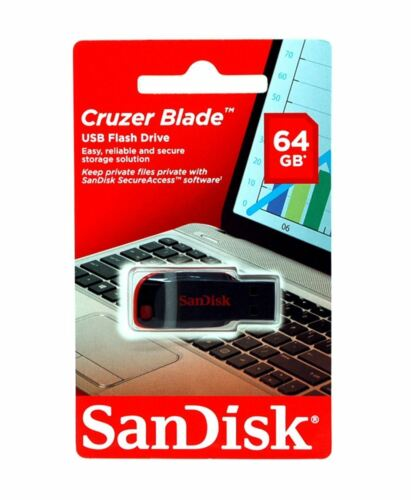 SanDisk 64gb USB Flash Drive Cruzer Blade Thumb Pen Memory Stick 64g  Lot 10