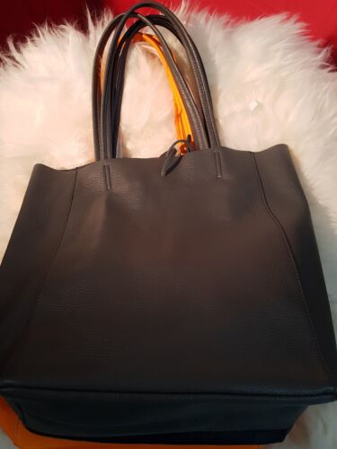 Shopper Shopping Unlined Bag Soft Hide Italian Leather Colours W9E2HID