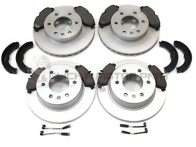 VW CRAFTER REAR BRAKE DISCS AND PADS WITH HAND BRAKE SHOES 2006-2016