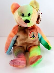 TY BEANIE BABIES RETIRED, MINT COLLECTIBLE 1996 PEACE
