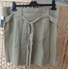 "United Colors Of Benetton 100% Linen Summer Skirt Bnwt Size 42 Khaki Medium 35""w"