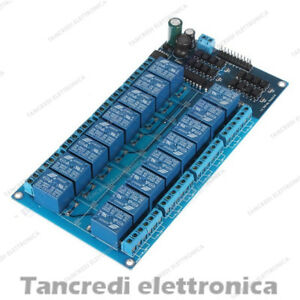 MODULO SCHEDA RELE 16 CANALE OPTOISOLATO 10A 5V SHIELD 5Vdc (arduino-compatibile