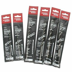 14mm Proline Precision Masonry Drill Bits Black /& Decker 5.5mm Set of 6