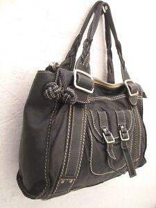 c334f2ef6f Sublime authentique grand sac à main FOSSIL cuir vintage bag | eBay