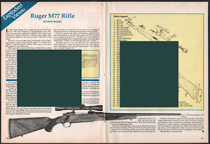 Details about 1993 RUGER M77 RIFLE Exploded View  Parts List  2=page  Assembly Article