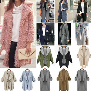 Plus-Size-Womens-Winter-Wool-Jacket-Long-Trench-Warm-Coat-Parka-Overcoat-Outwear