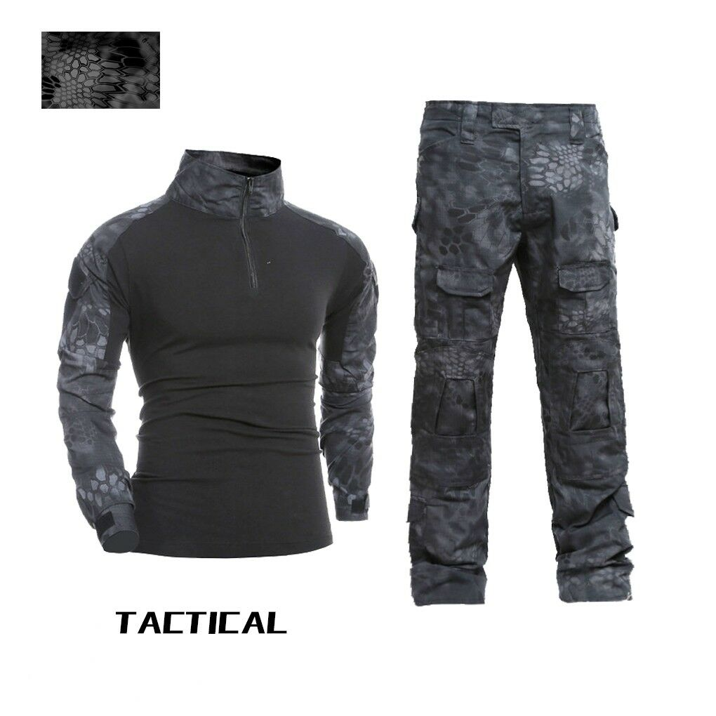TYPHON Mens Combat Uniform Shirt Pants Set BDU Military Tactical Army camouflage