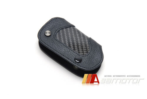 Carbon Leather Remote Key Cover for Mercedes W205 C Class C300 C350 C400 C63 AMG
