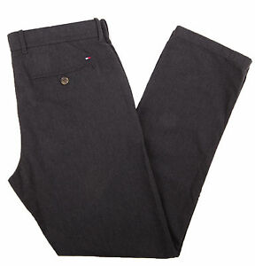 Tommy-Hilfiger-Men-039-s-Custom-Fit-Light-Black-Casual-Pants-0-Free-Ship