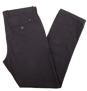 Tommy-Hilfiger-Men-039-s-Custom-Fit-Light-Black-Casual-Pants-0-Free-Ship
