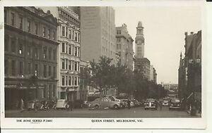 QUEEN STREET MELBOURNE VIC PHOTO POSTCARD